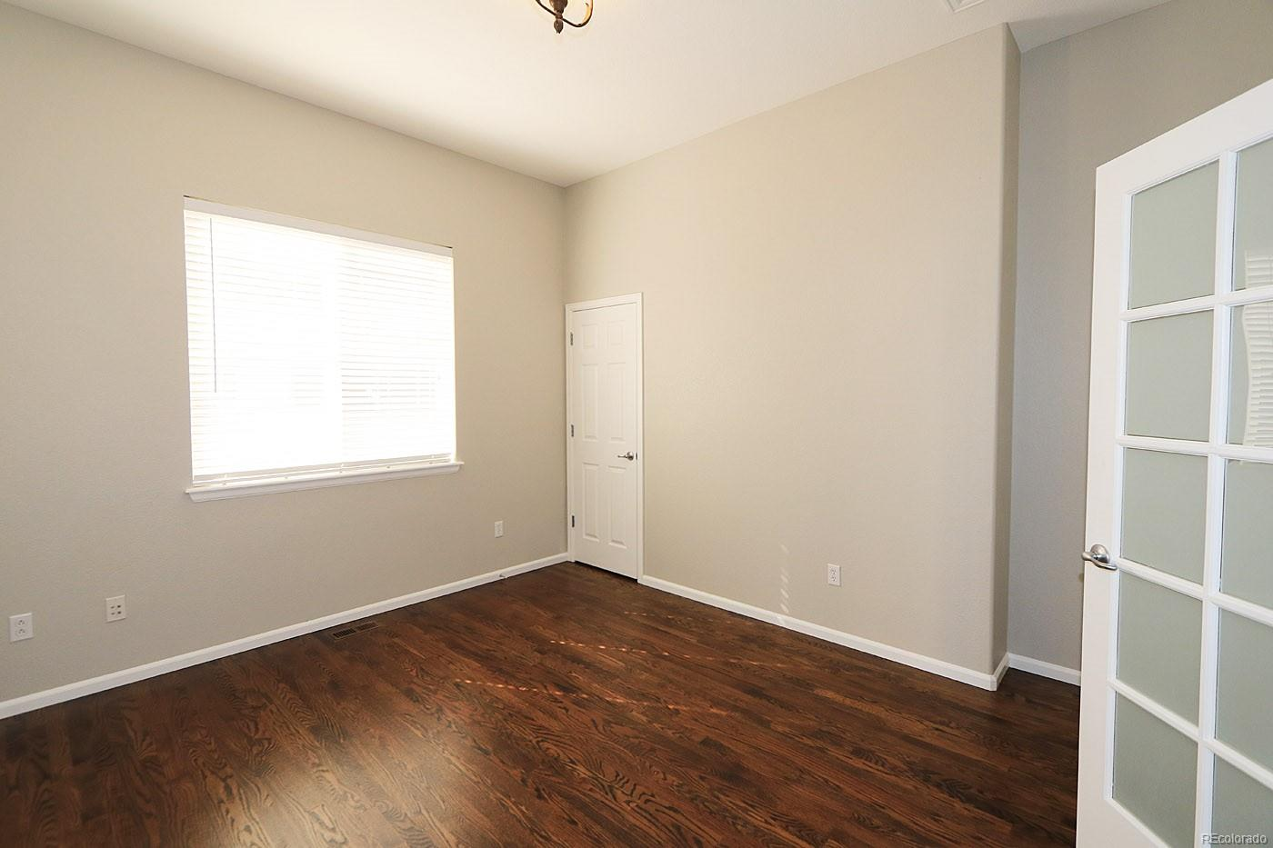 Office or Bedroom With French Doors