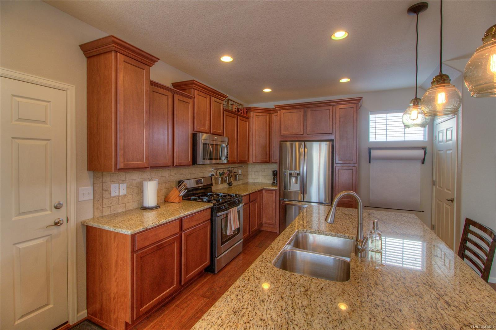 Huge granite kitchen island!