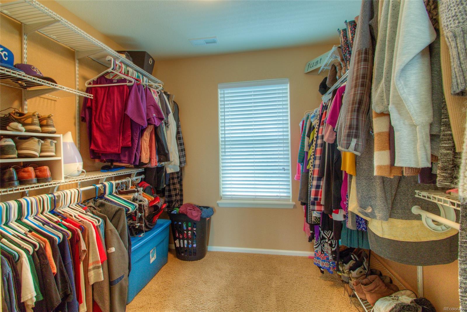 Sweet master bedroom's walk-in closet.