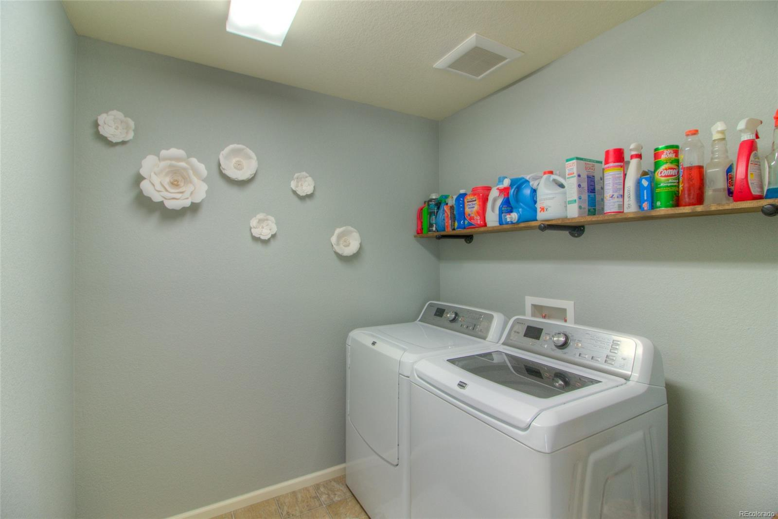 Upstairs laundry and clothes washer & dryer included