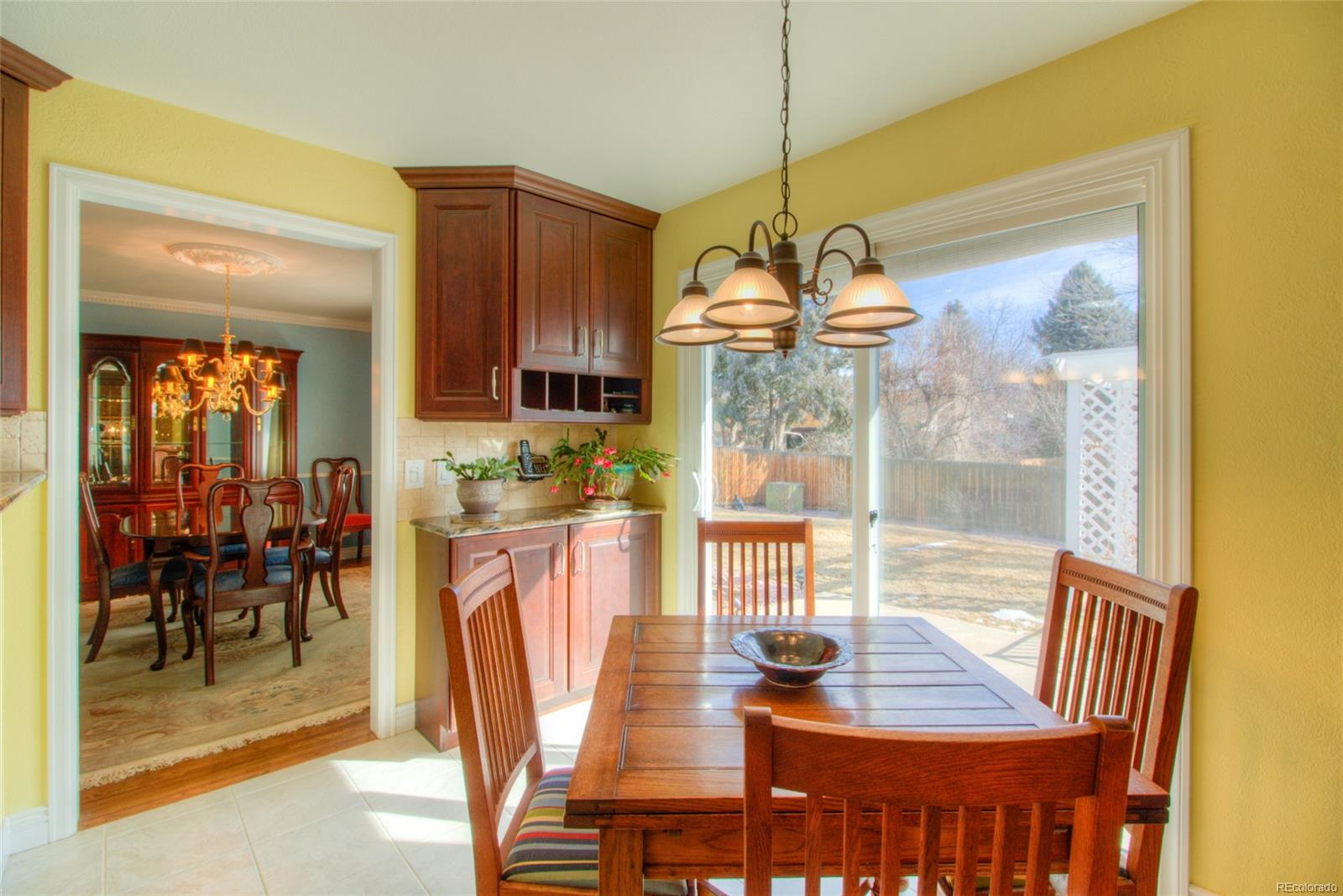 Kitchen Nook with additional built-in cabinets