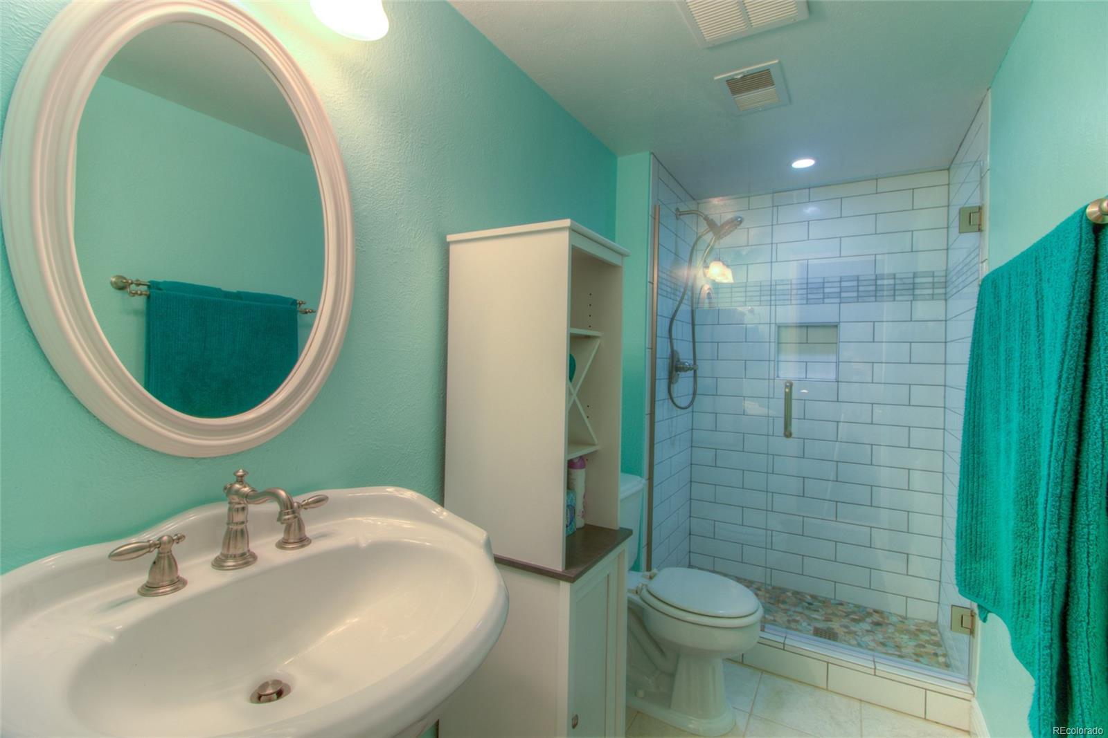 Lower Level remodeled 3/4 Bath