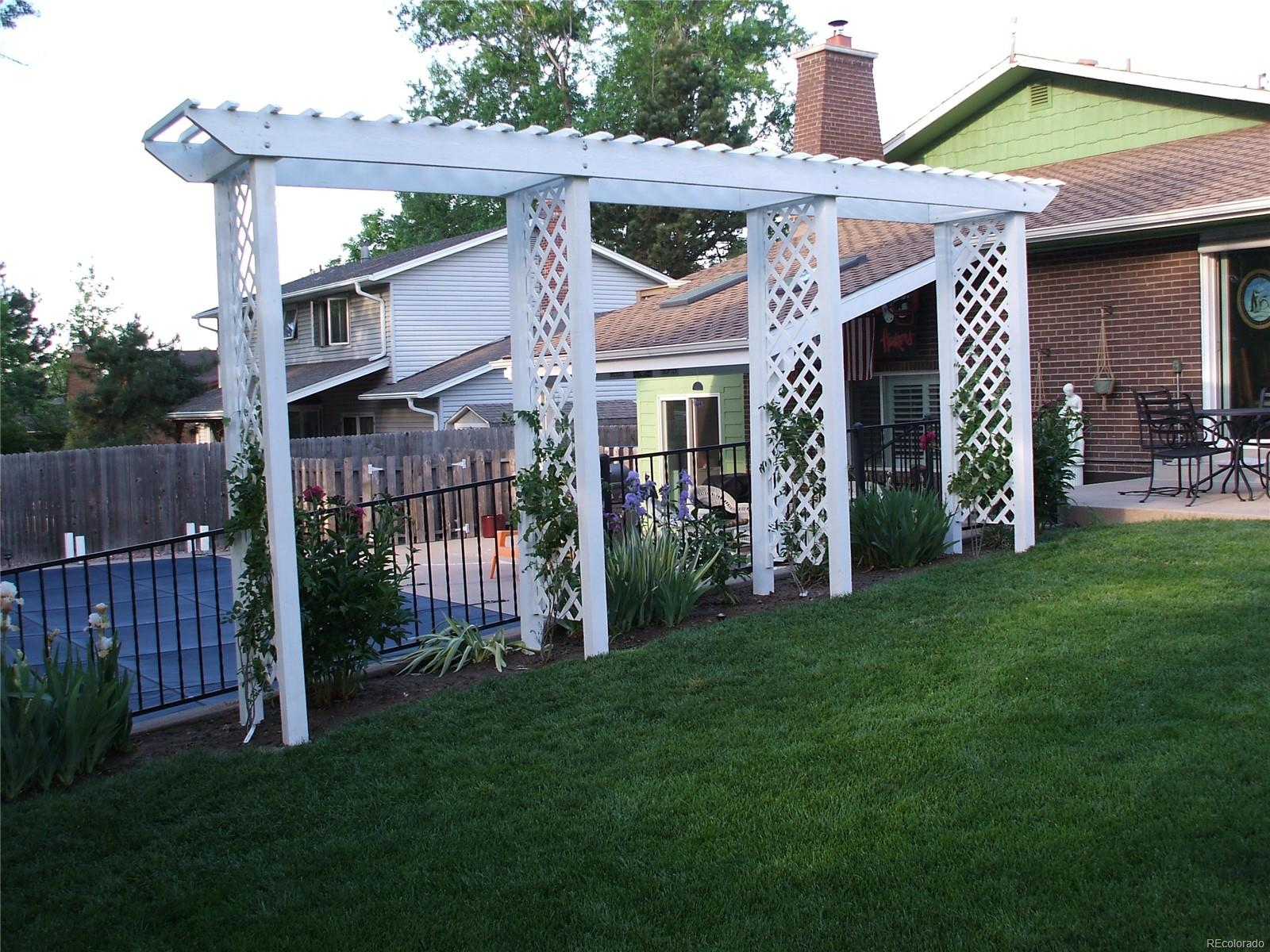 Fabulous Pergola with wisteria installed summer of 2018