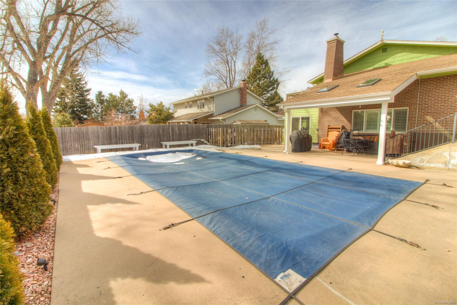 Pool winterized and covered right now.