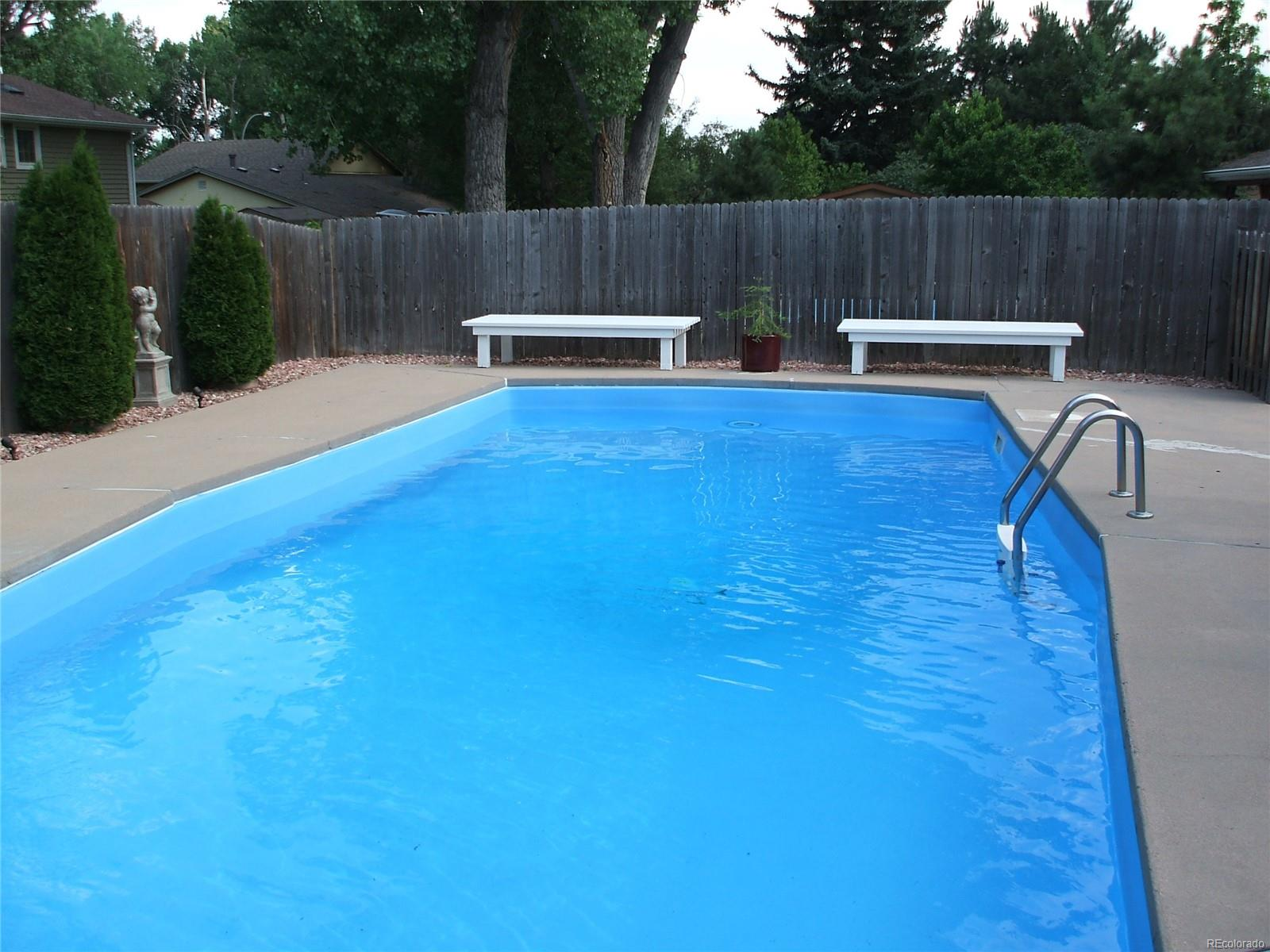 Beautiful in-ground pool that was refinished last summer.