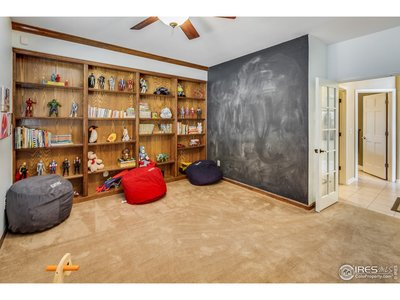 Study w/ built in shelving