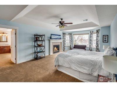 Light filled master suite