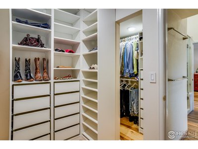 His & Her Walk-In Closets
