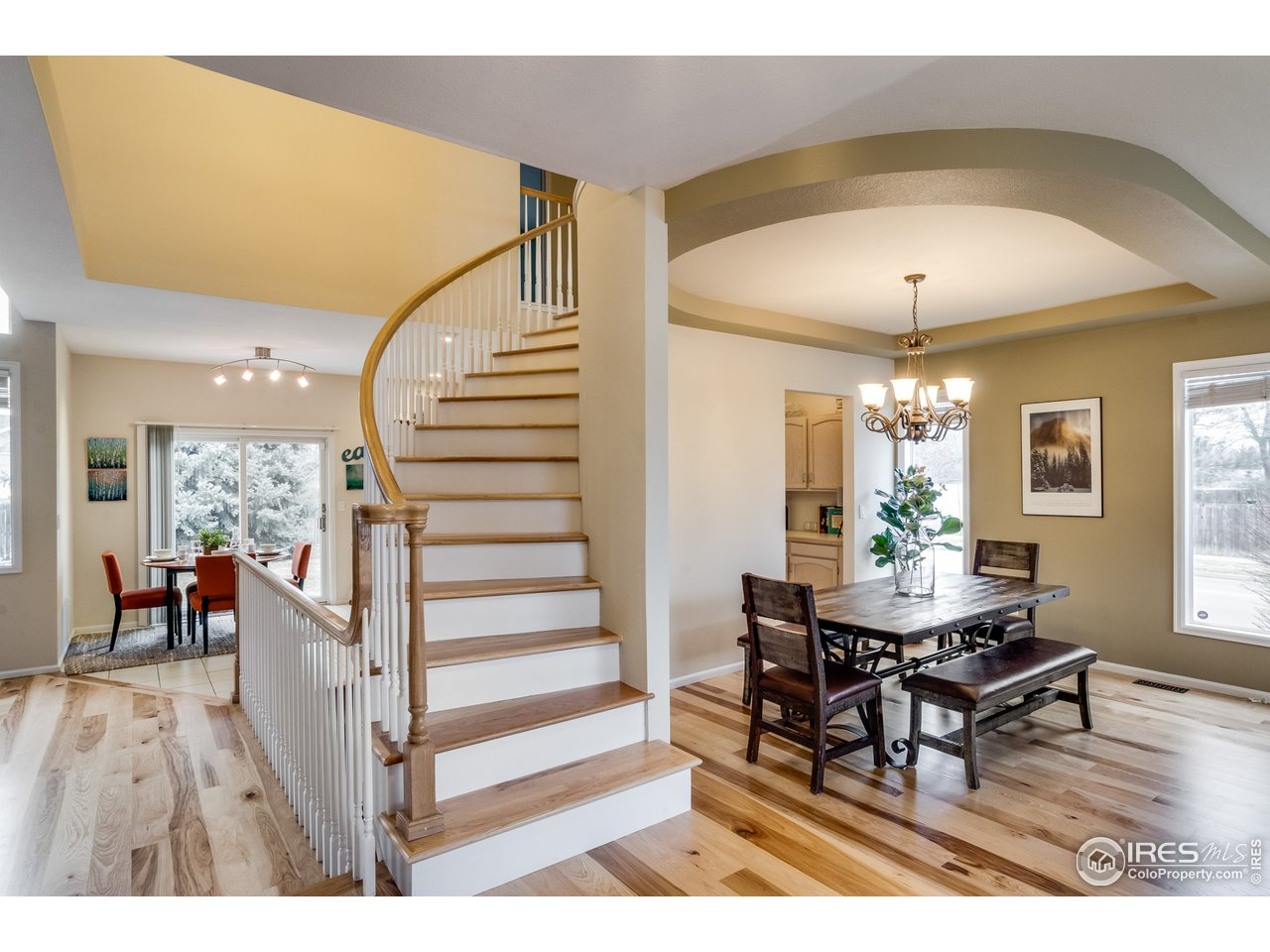 Curved Elegant Staircase