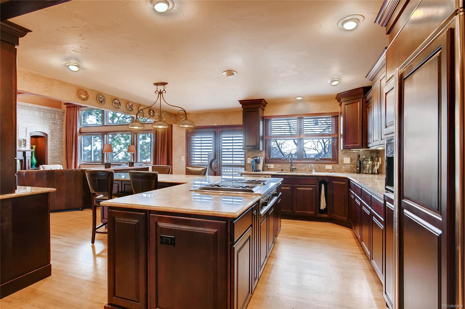 Recessed lighting and loads of cabinet and counter space