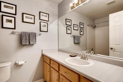 Secondary bathroom on upper level