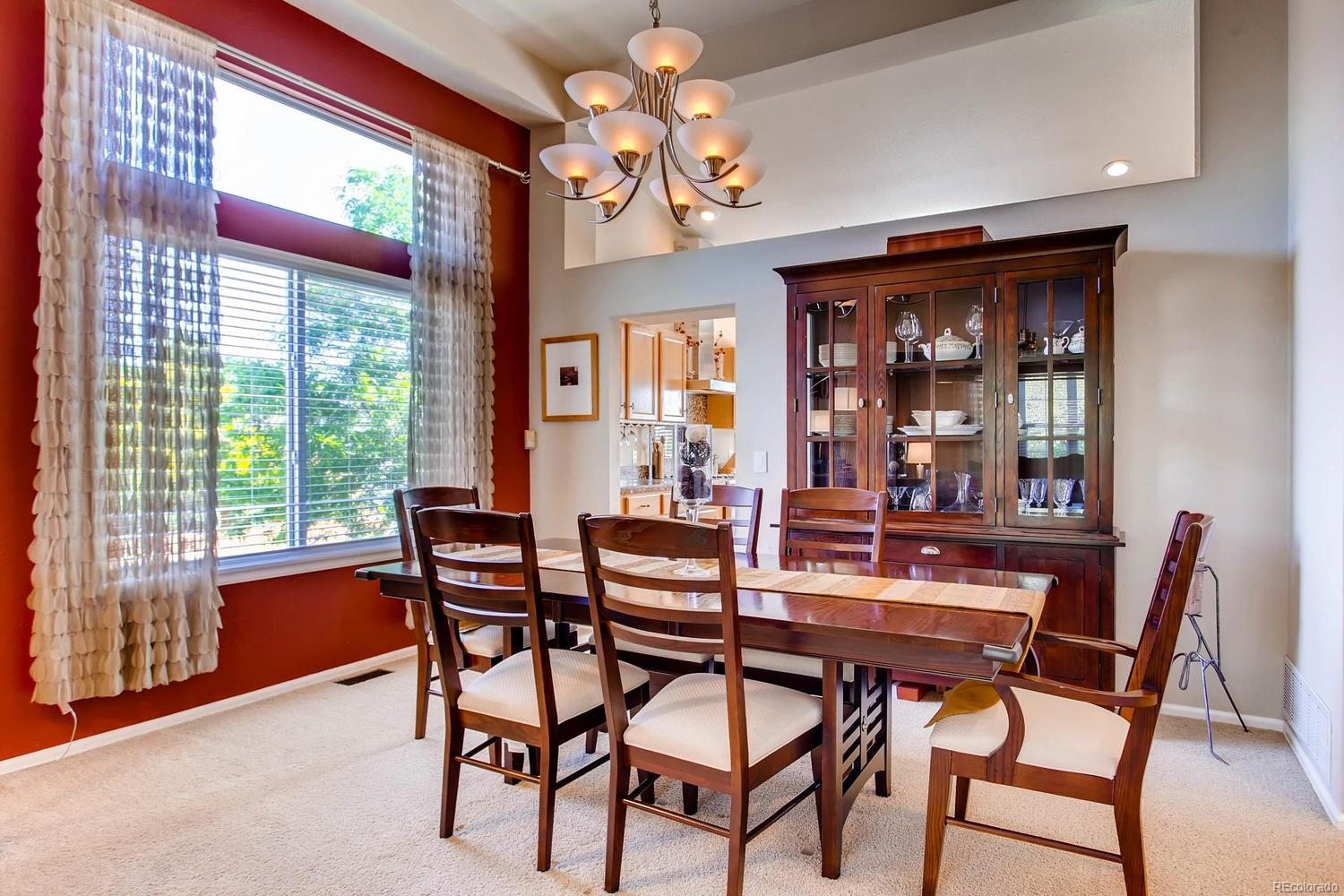 Dining room adjacent to kitchen and formal living room