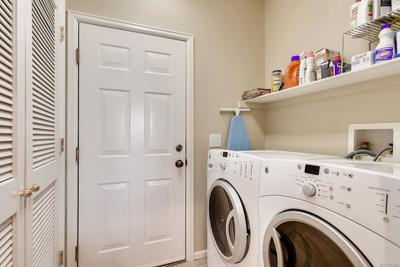 Full sized, front load washer and dryer included