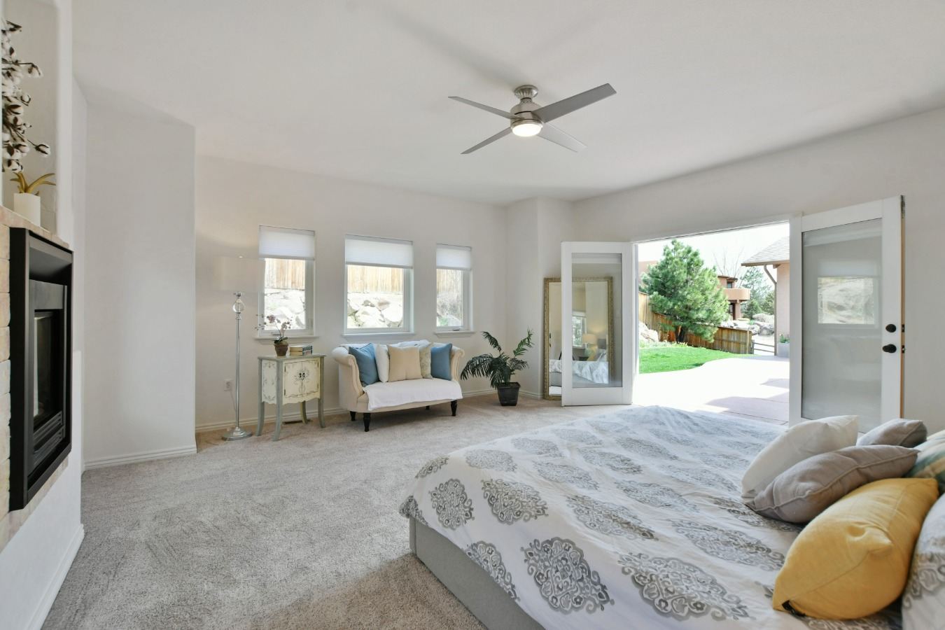 Master Bedroom opens to patio