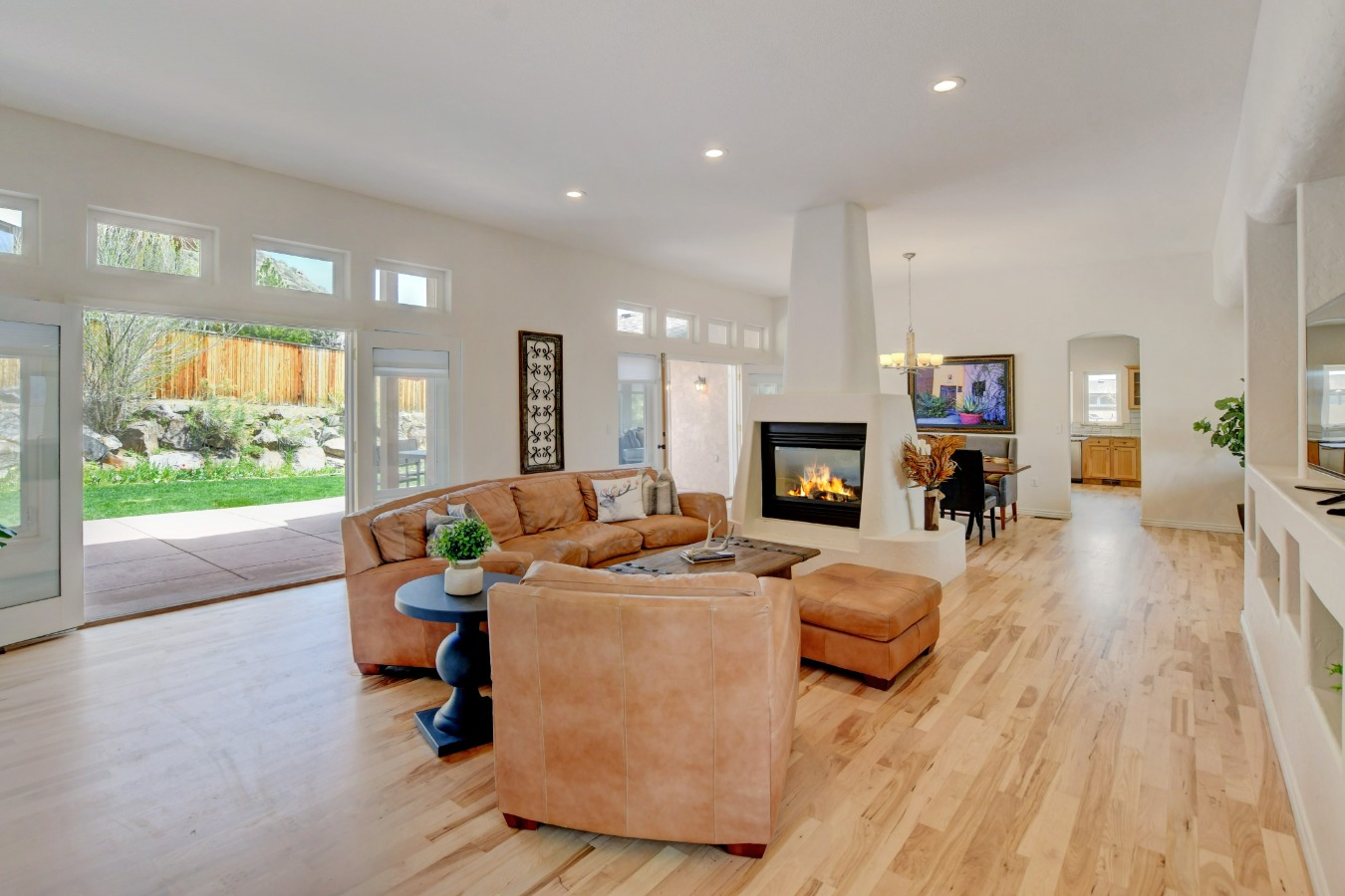 Open and Airy Living/Dining/Great room