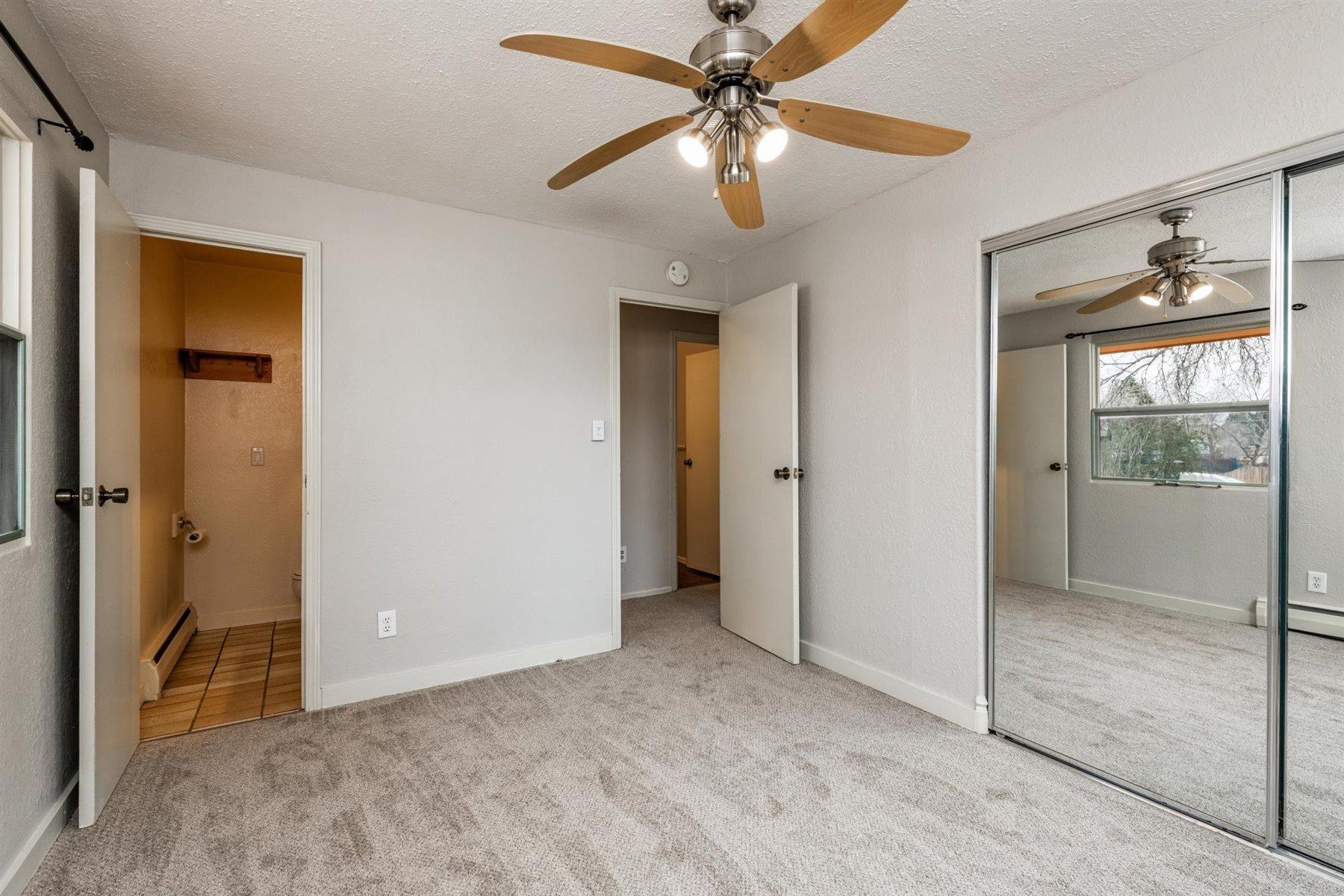 Bedroom with adjacent 1/2 bath