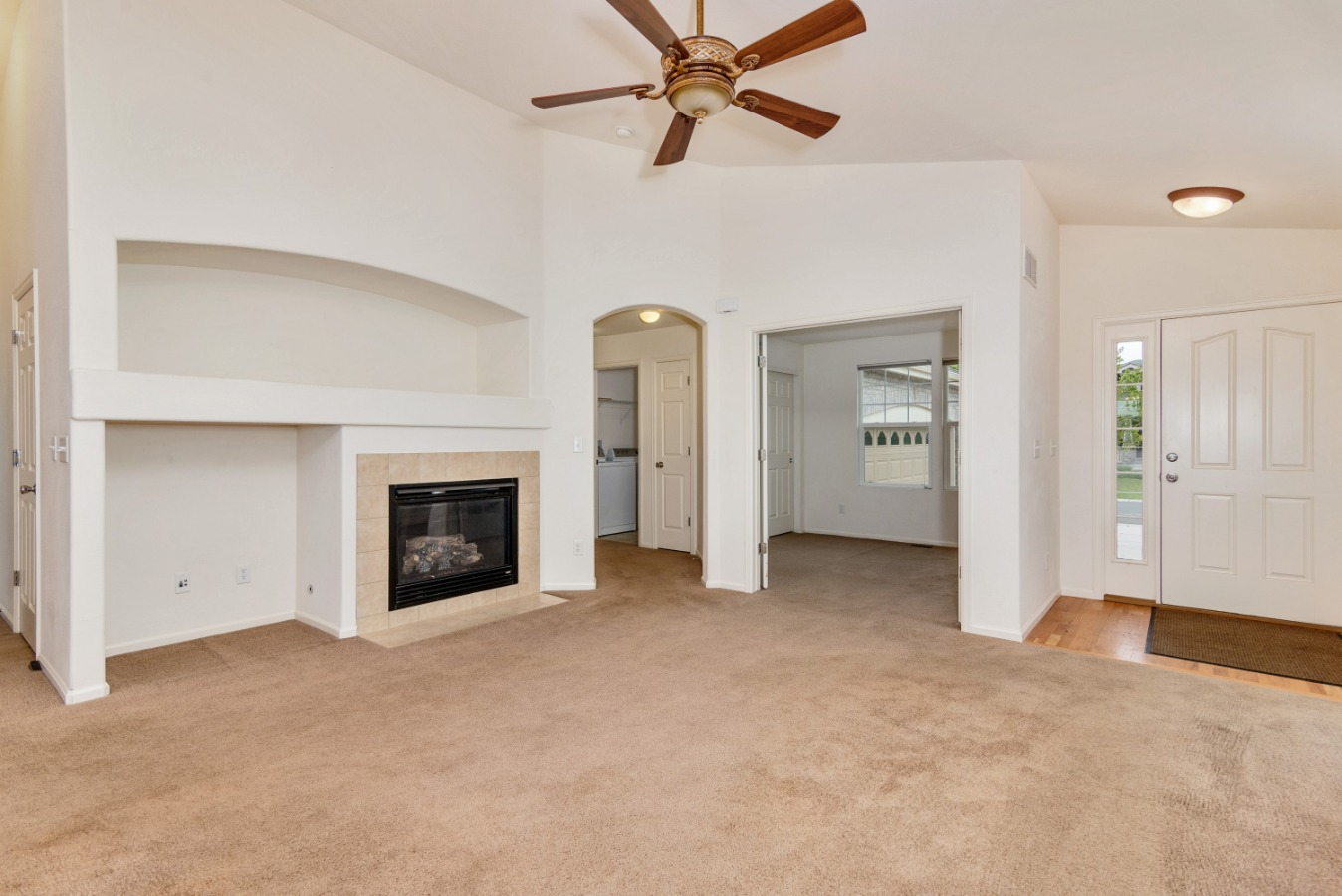 Living Room with gas fireplace/built-ins