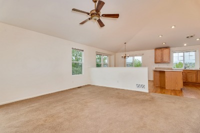Living Room to Dining Area/Kitchen