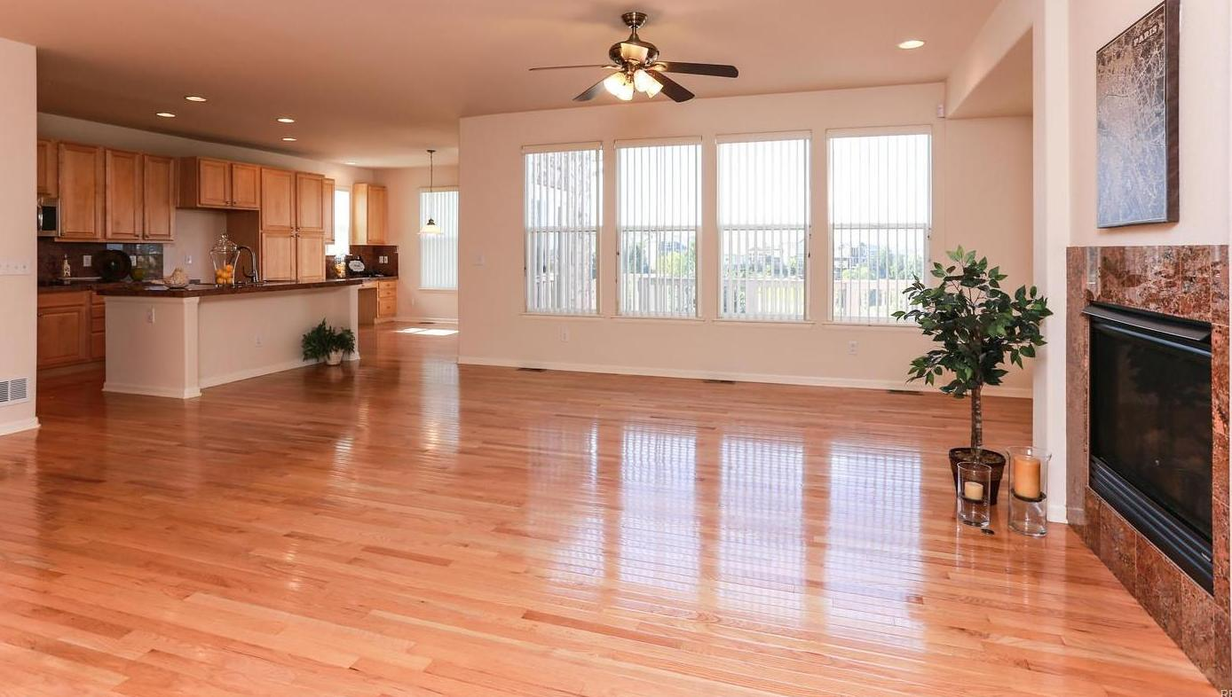 Family Room and Kitchen with Dining Area