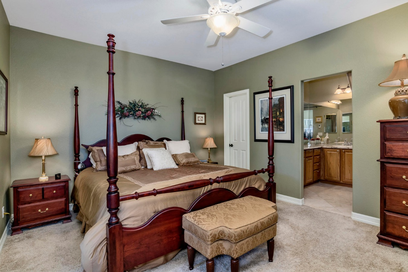 Master Bedroom has His & Hers California Closets