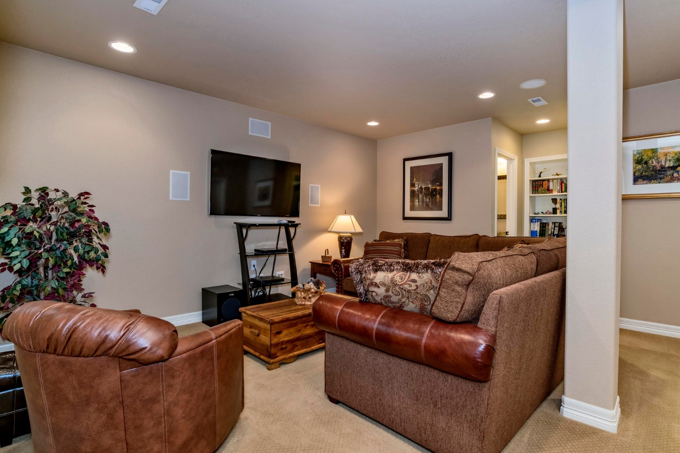 Finished Basement Adds to Living Spaces