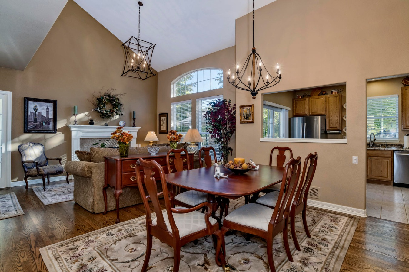 Hardwood Floors in Living and Dining Rooms
