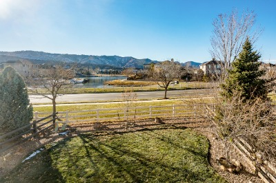 Views of Backyard, Community Lake & Mountains