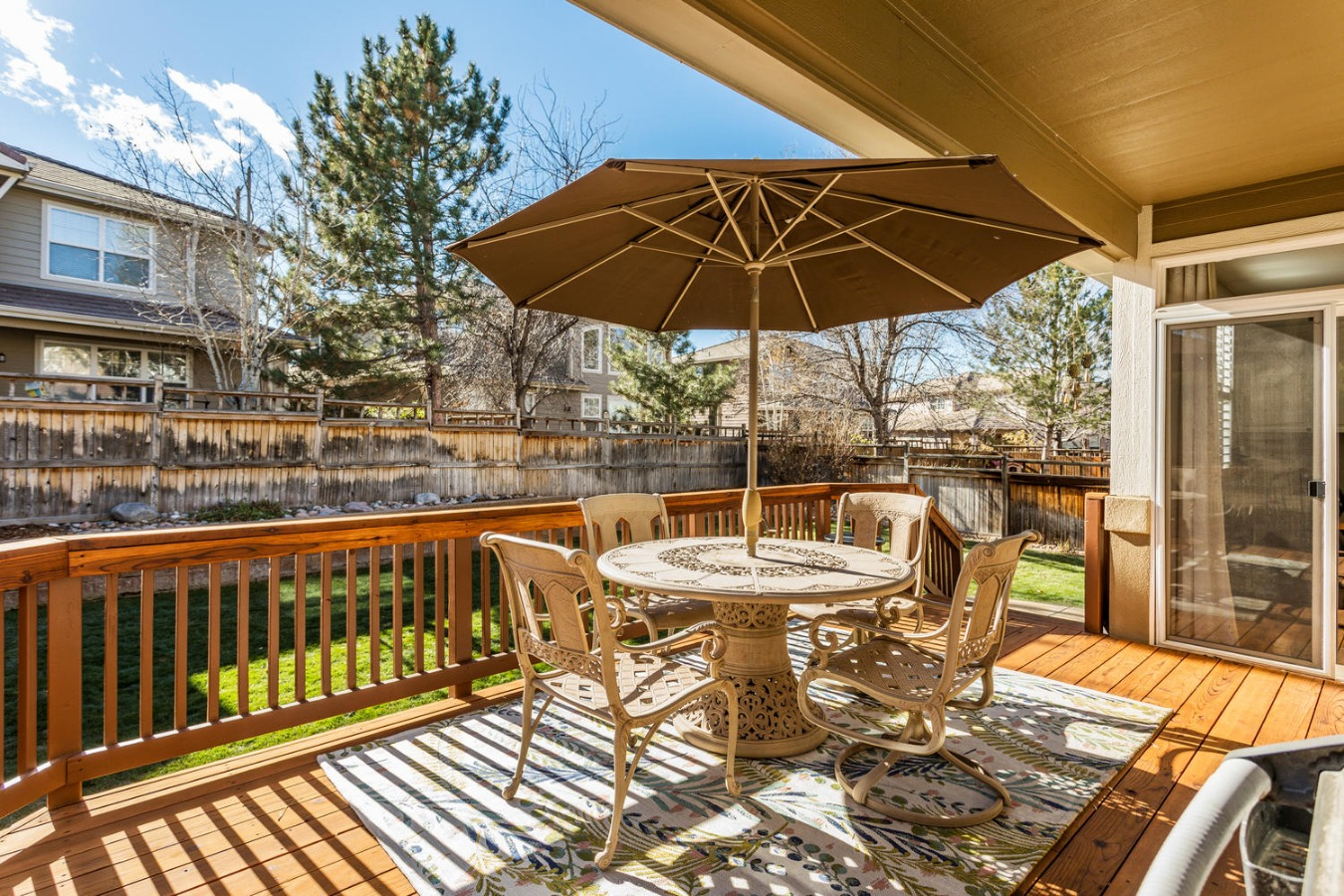 Partially Covered Deck Off Kitchen