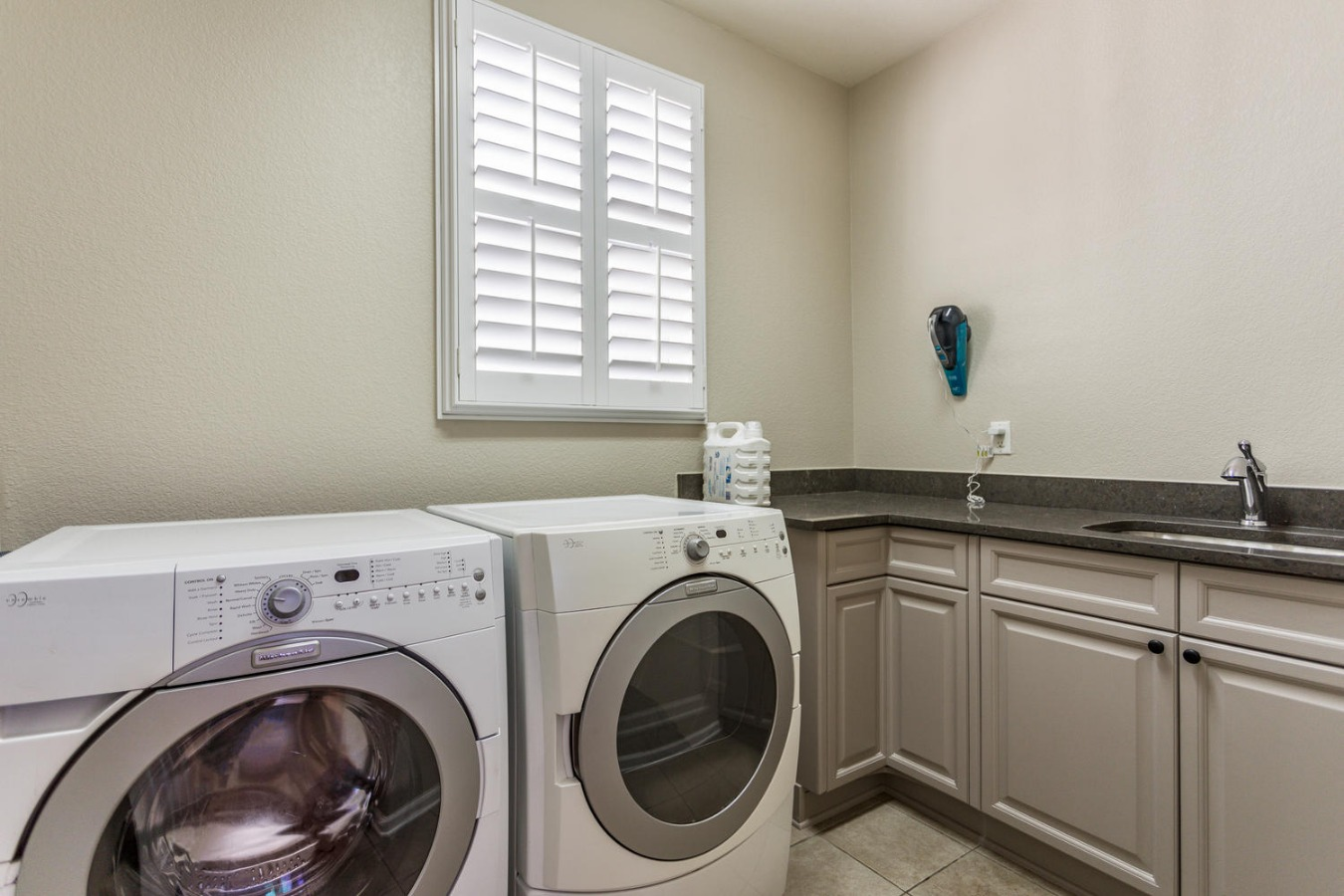 Large Laundry Room with Sink & Storage Cabinetry