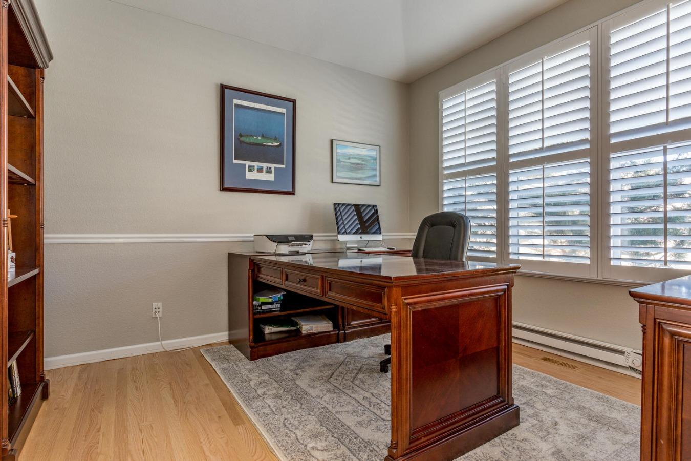 Main Floor Study with Hardwood Floor