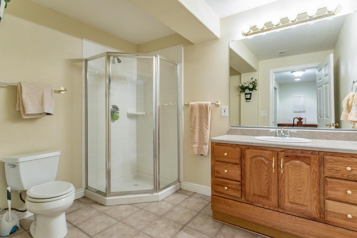 Large 3/4 Bath at Bedroom #5