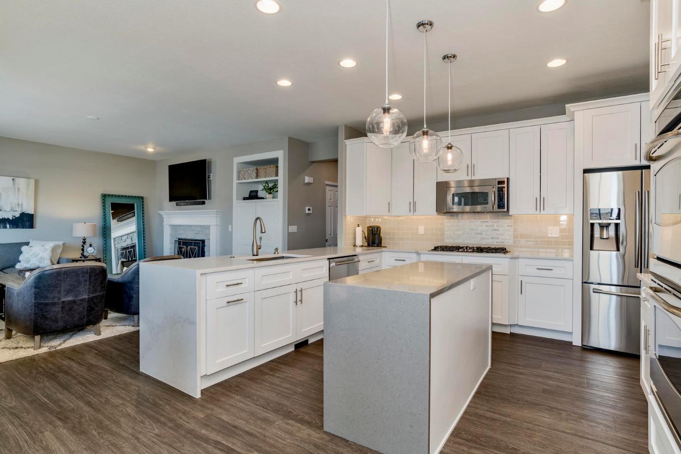 Kitchen Overlooks Adjoining Family Room