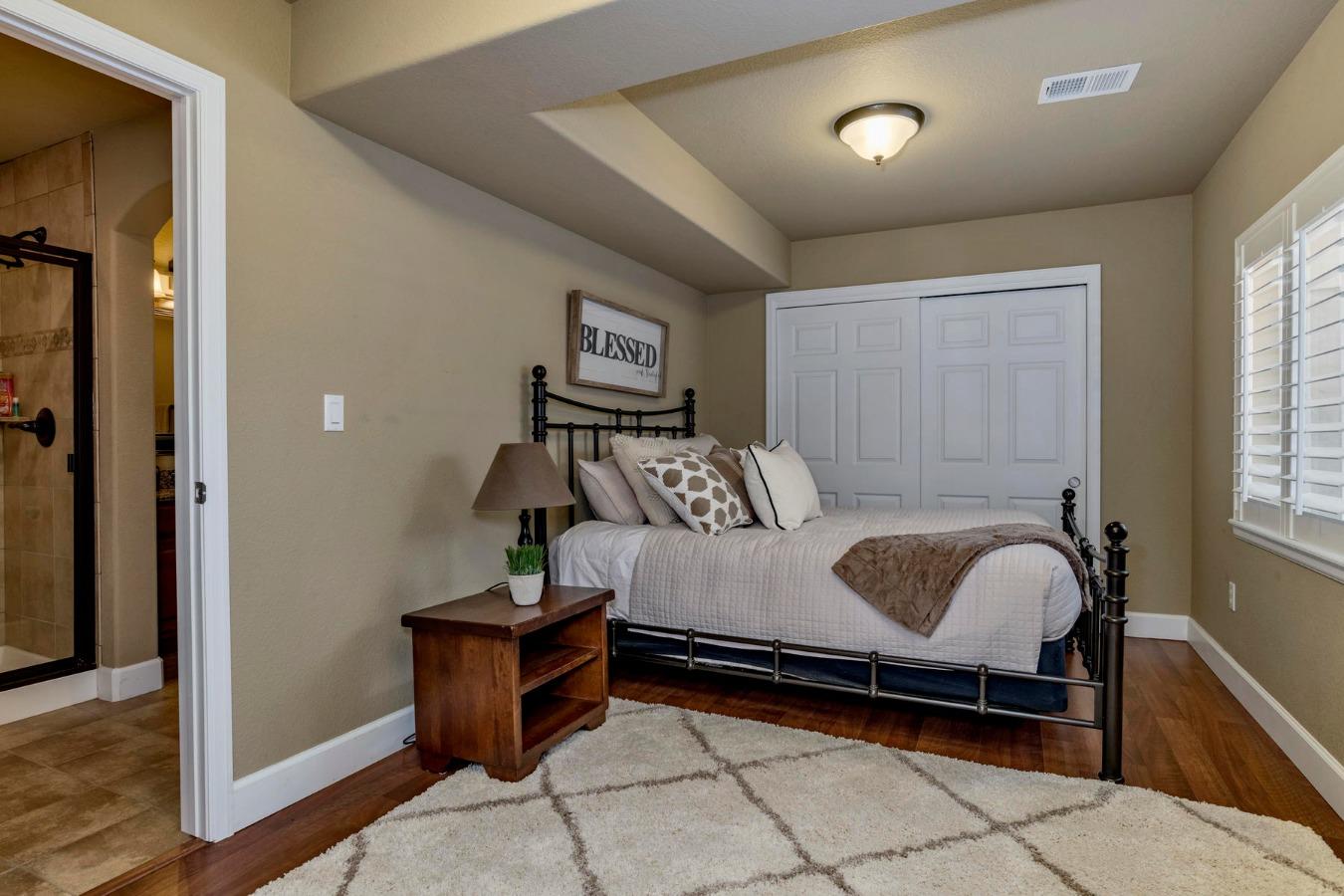 5th Bedroom /Guest Suite Adjoins Bath in Basement