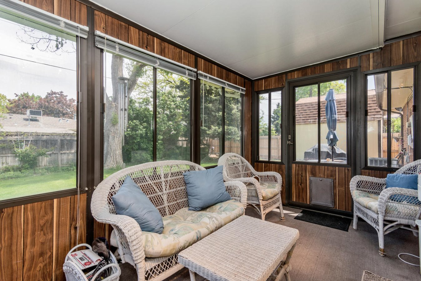 Enclosed Sun Room is Usable Year Around