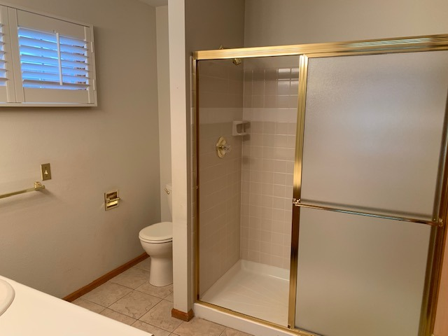 Updated Tiled Large Walk-in Shower in Master Bath