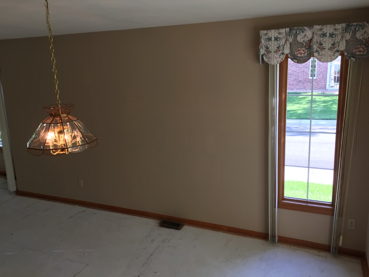 Wall Space for China Cabinet or Hutch in Dining