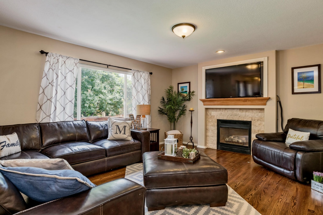 Main Floor Family Room with Gas Fireplace