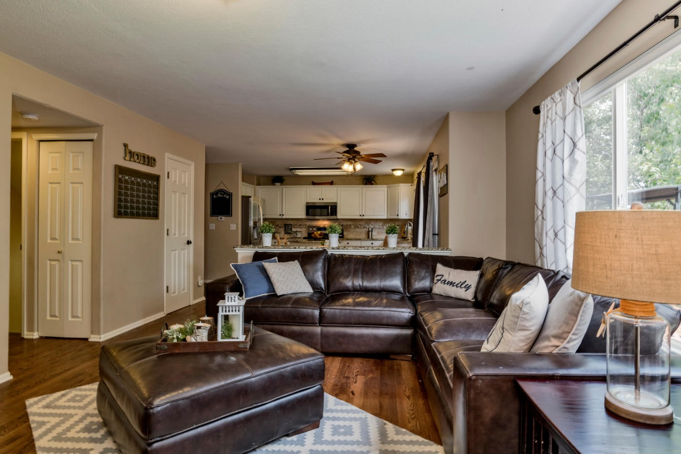 Family Room & Open Kitchen are the Heart of Home!