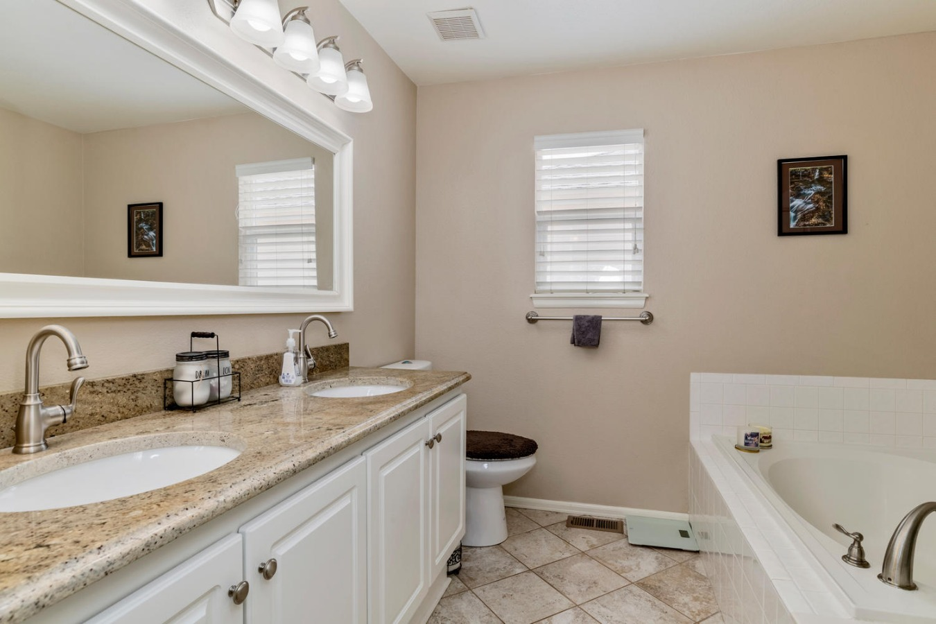 Tile & Granite in Large Master Bath
