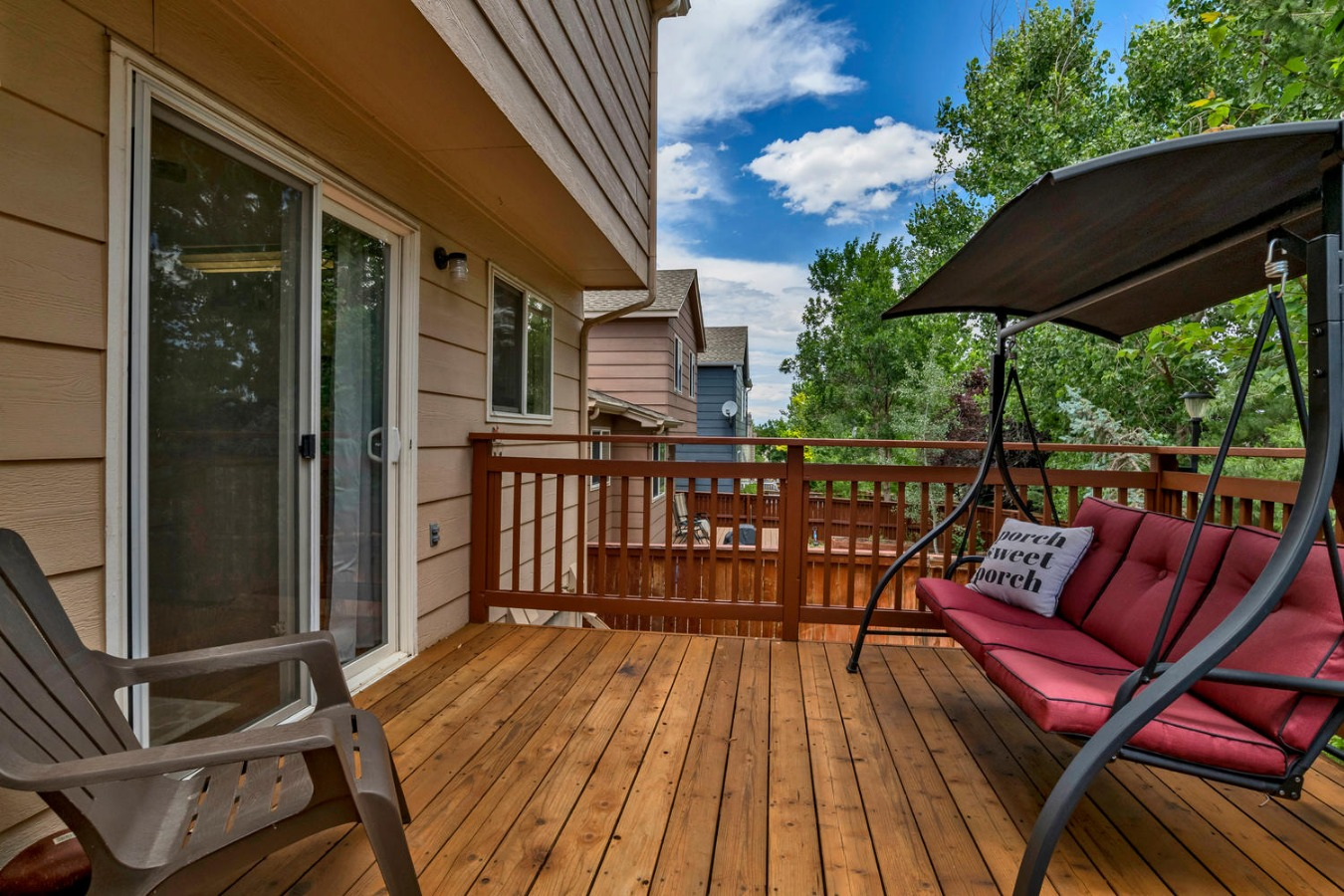 Great Private Shaded Deck for Summer Fun