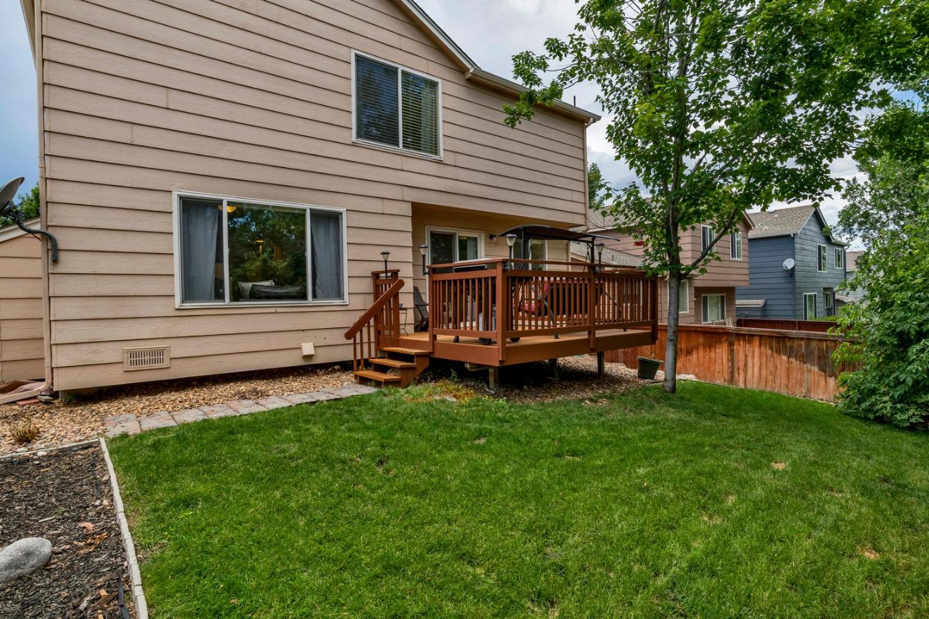 Back Yard & Deck View