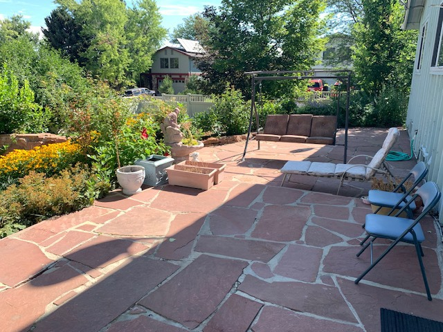 Expansive Patio is 40 x 13