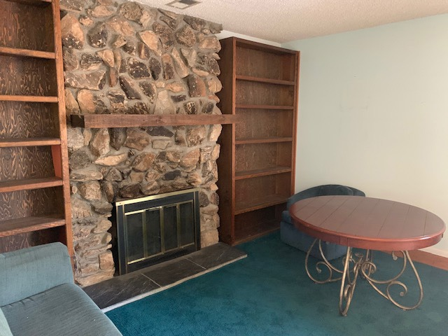 Stone Fireplace Wall in Family Room