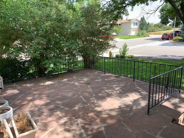 Large Front Patio Area