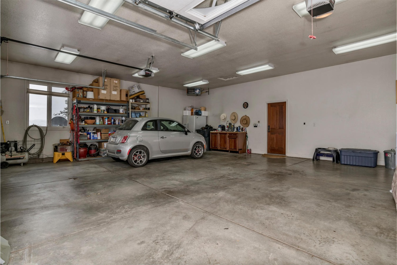 Oversized 3 Car Garage is Light, Open & Bright