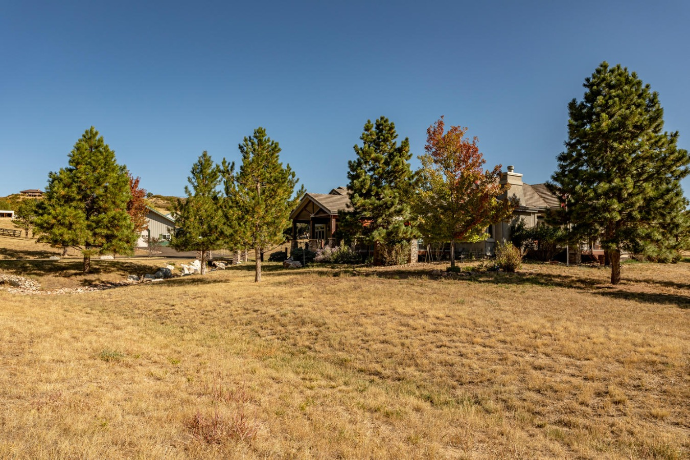 Beautiful Acreage is Enchanced by Large Trees