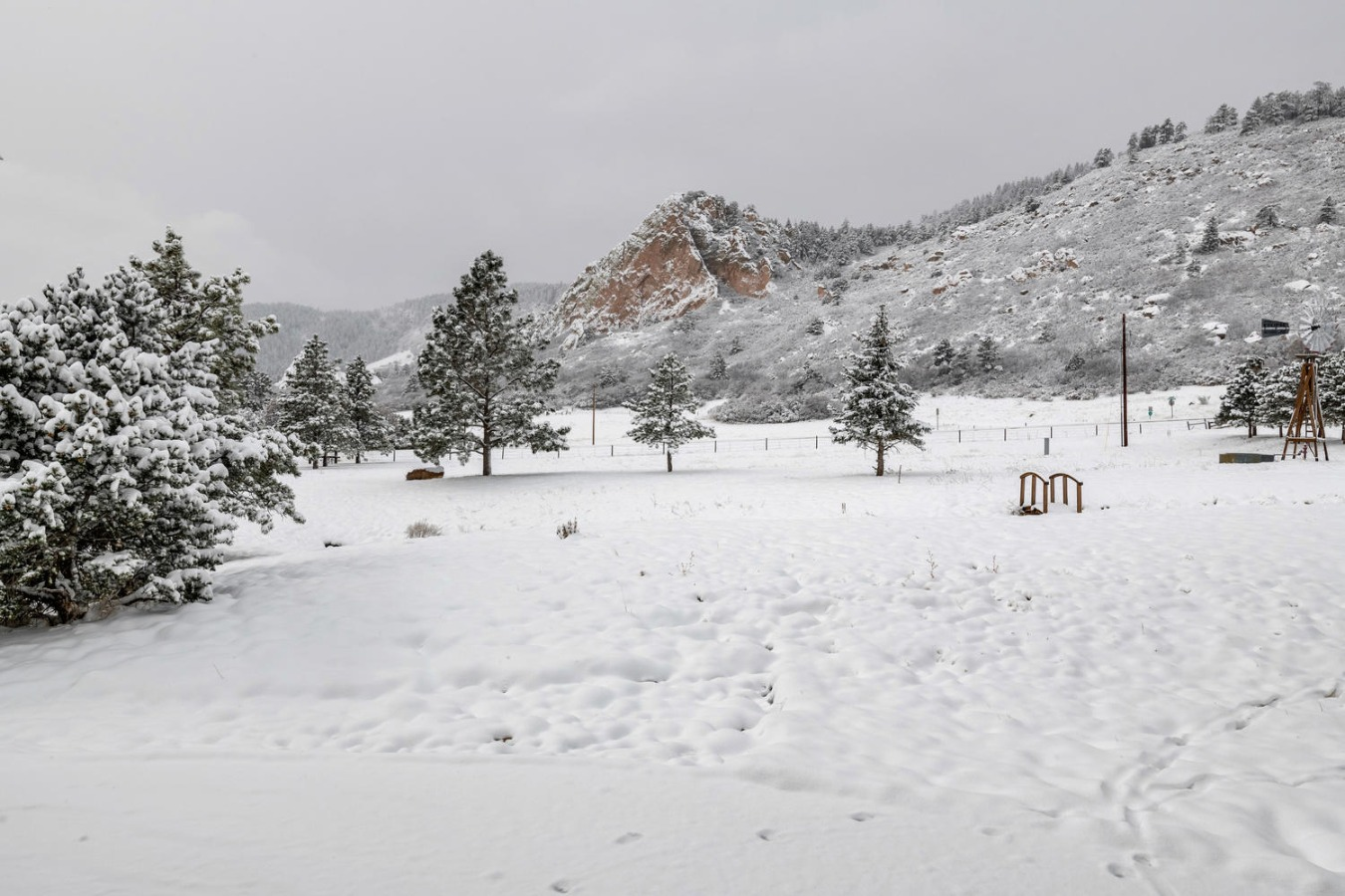 Winter View of Bee Rock From Barn