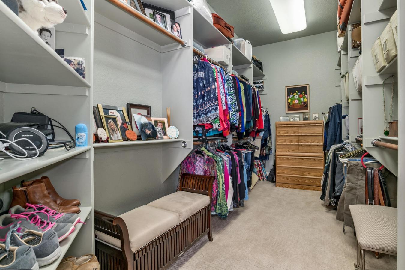 Her Dream Walk-in Closet is Huge - 14 x 9