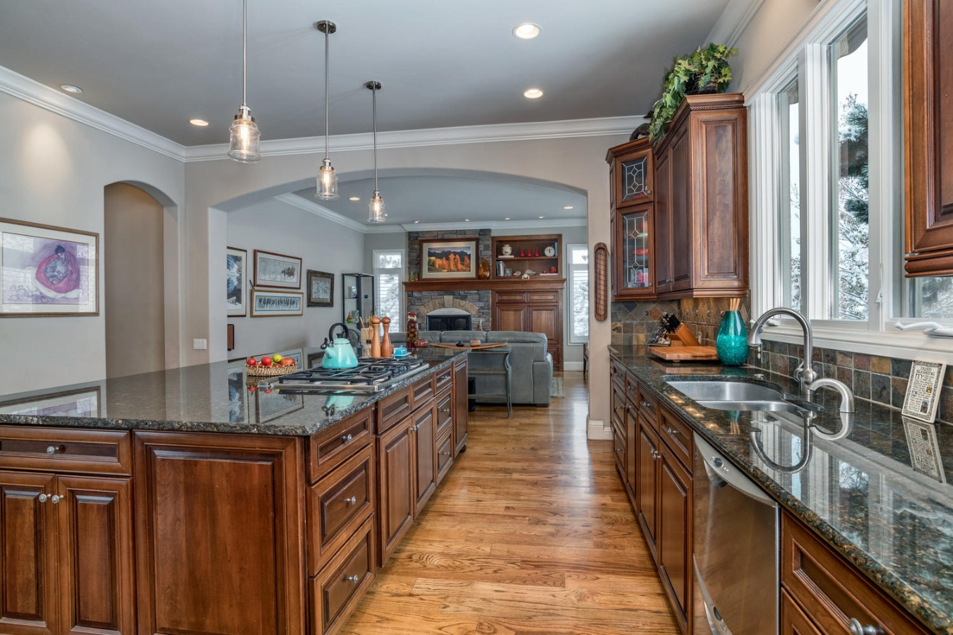 Abundant Cherry Cabinetry Throughout This Home