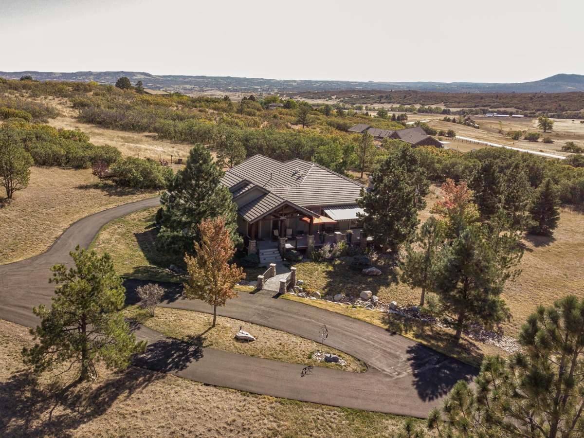 Aerial View Front of Home to East